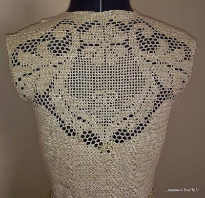 wzór szydełkowej sukienki filetem