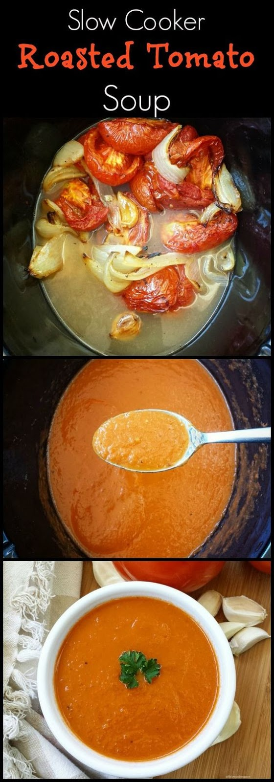 SLOW COOKER/INSTANT POT ROASTED TOMATO SOUP (PALEO/WHOLE30)