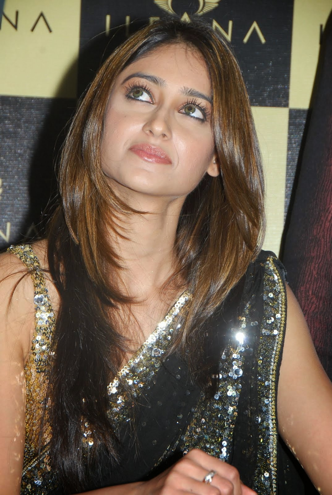 ,  ILeana D'Cruz HD Black Saree Images