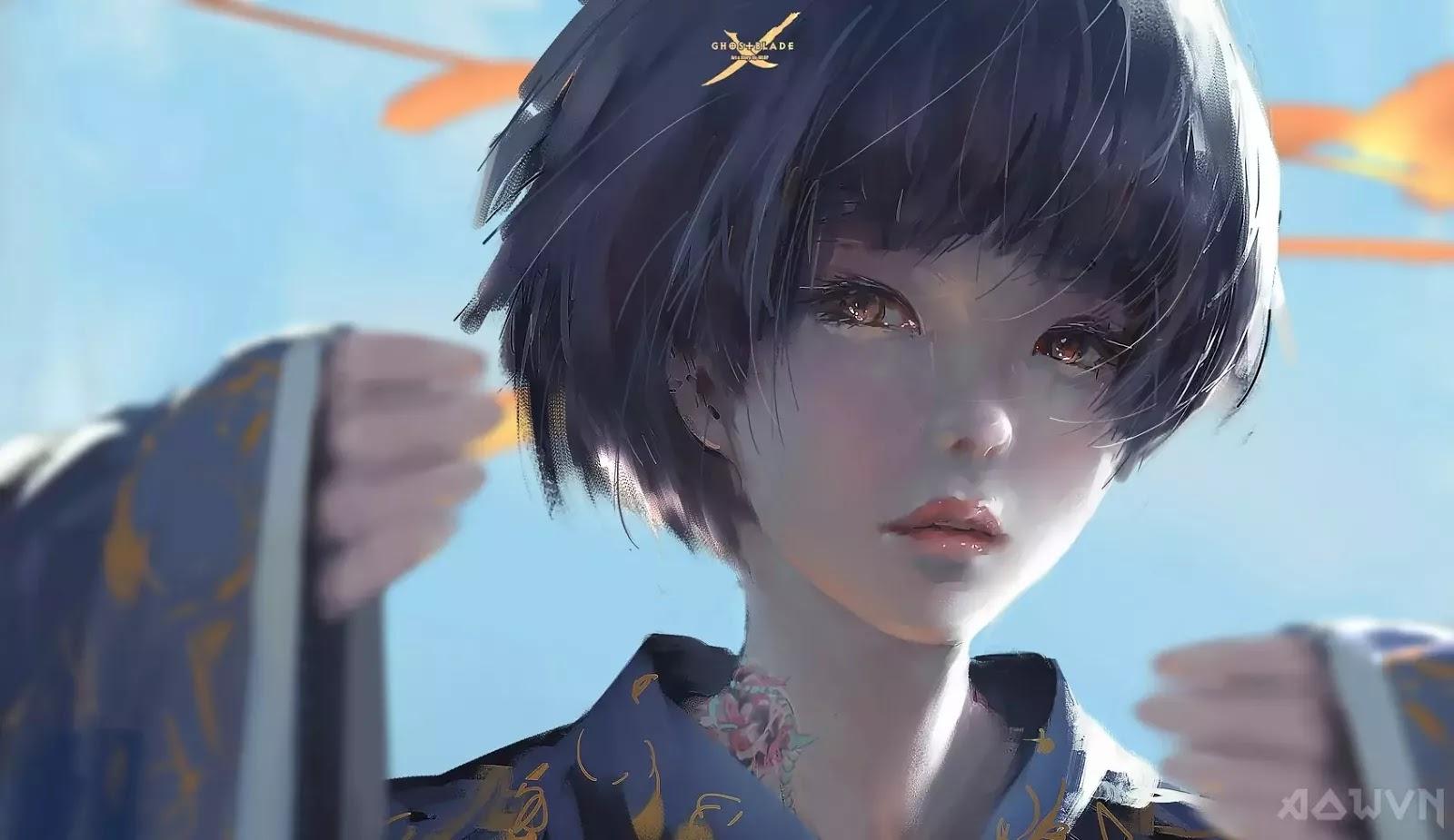 30 AowVN.org m - [ Hình Nền ] Anime Cực Đẹp by Wlop | Wallpaper Premium / Update