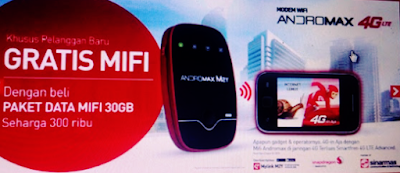 Dapat Kuota Besar 30 GB Smartfren Gratis MIFI Andromax 4G LTE