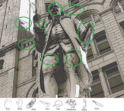 Statue Hidden Objects Brain Teaser Solution