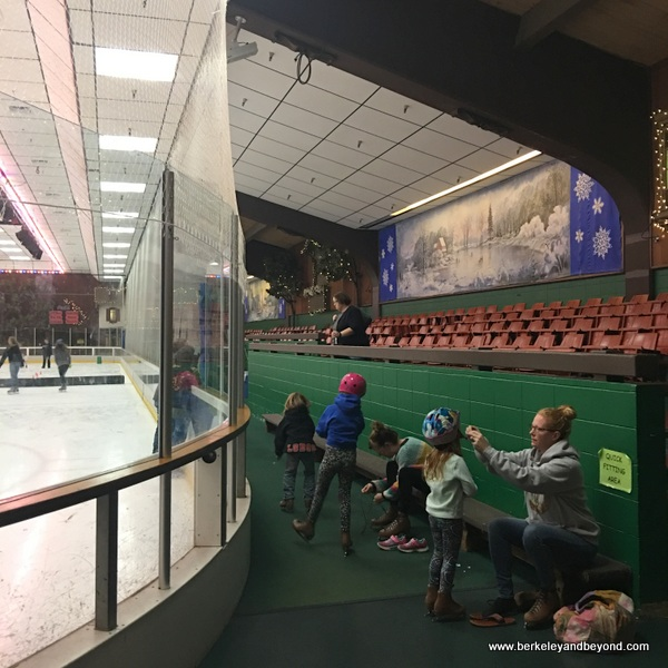 interior of Snoopy's Home Ice/ Redwood Empire Ice Arena in Santa Rosa, California