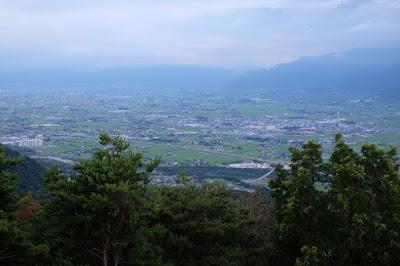 長峰山休憩展望台 南西方面の景色