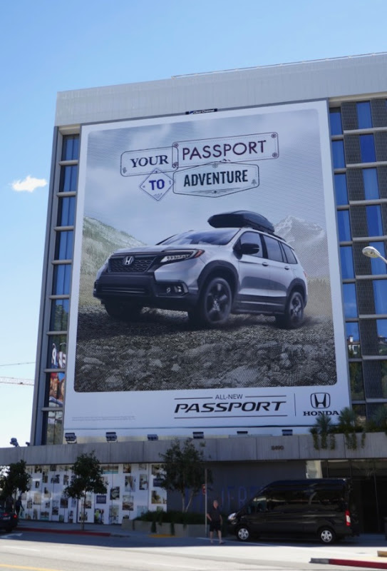 Giant Honda Passport to adventure billboard