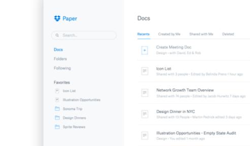 不只存檔案!Dropbox 推出雲端文件協作服務,你選Google Docs還是它?