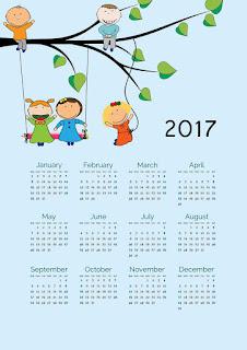 2017カレンダー無料テンプレート48