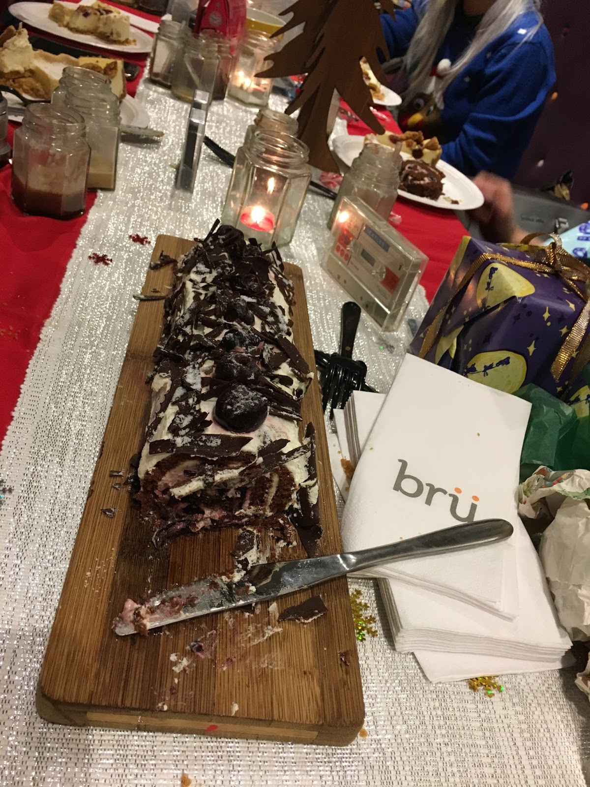 Bru Leicester review festive menu cake coffee