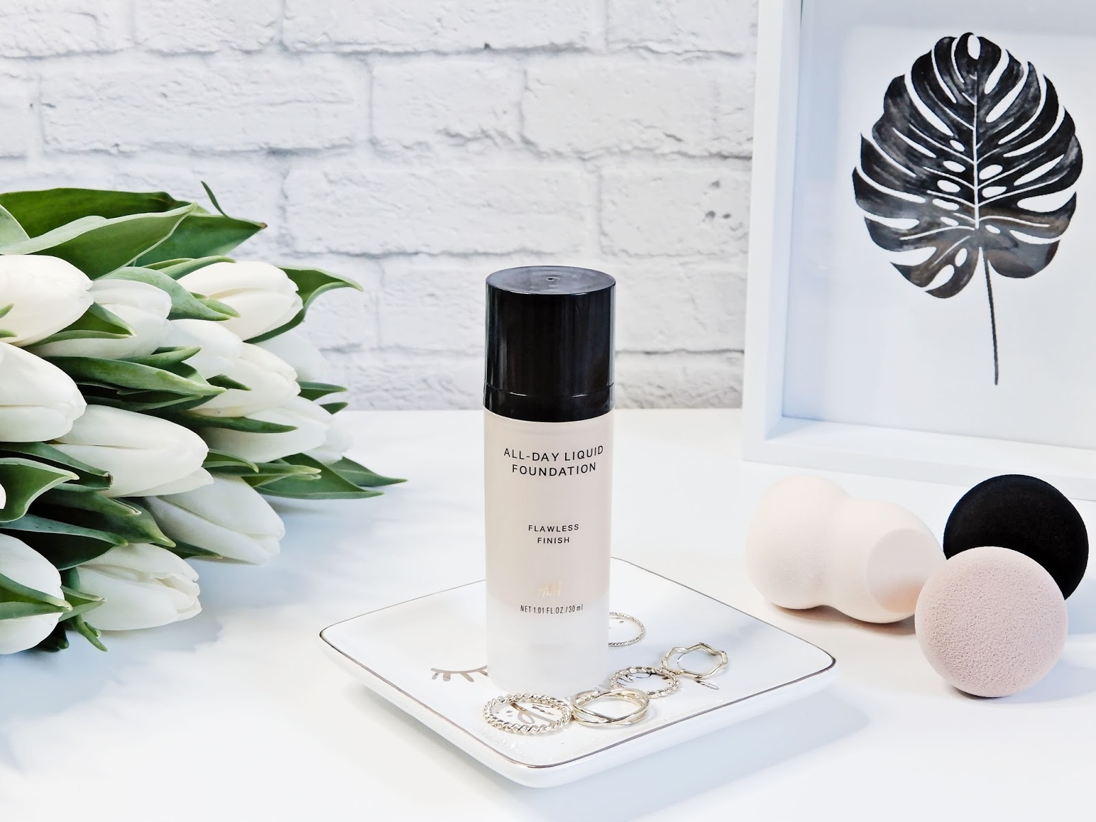 H&M All Day Liquid Foundation Soft Sand, h&m podkład,