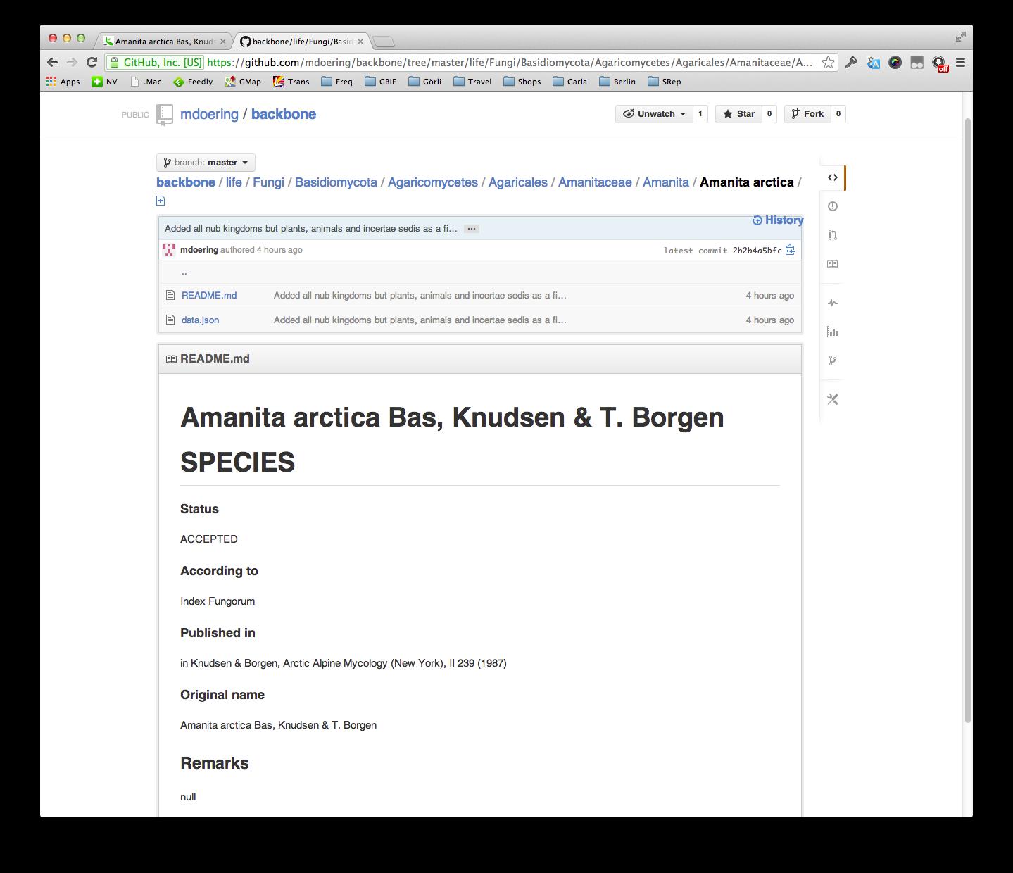 Developer Blog: GBIF Backbone in GitHub