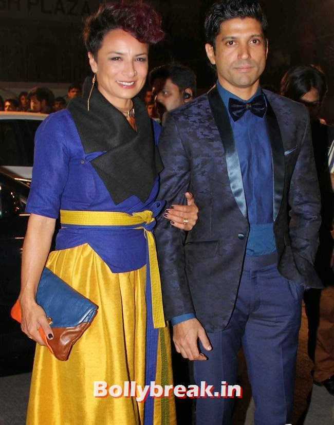 Adhuna Akhtar and Farhan Akhtar, Filmfare Awards 2014 Red carpet Images