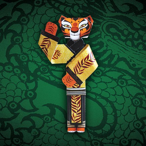 Muñeca de Tigresa de Kung Fu Panda para Imprimir Gratis.