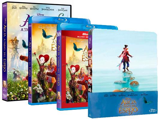 Ya a la venta 'Alicia a través del espejo' en DVD, Blu-ray, Blu-ray 3D y steelbook