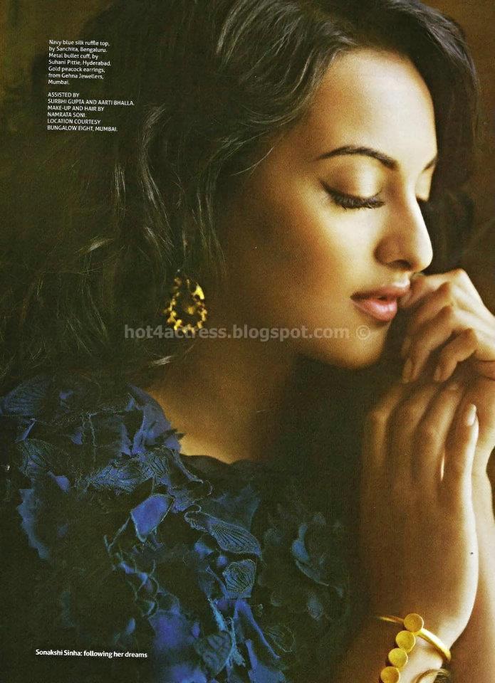 Hot sonakshi in magazine