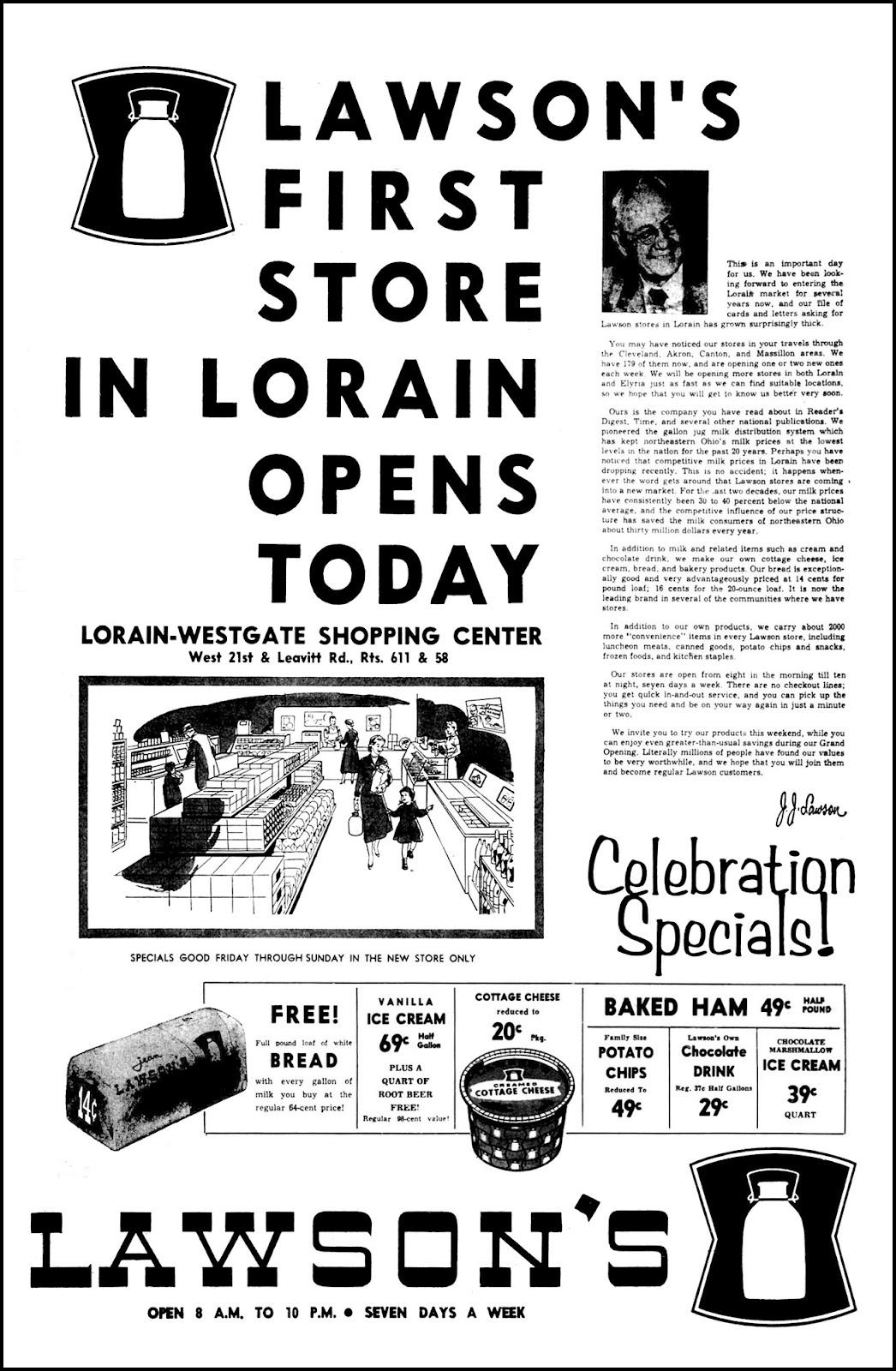 Brady's Bunch of Lorain County Nostalgia: First Lawson's