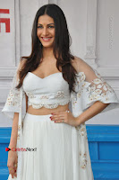 Telugu Actress Amyra Dastur Stills in White Skirt and Blouse at Anandi Indira Production LLP Production no 1 Opening  0025.JPG
