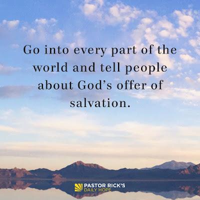 A Christian's Job Description: Go and Tell by Rick Warren