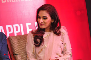 Aiswarya Rajinikanth Dhanush Standing on an Apple Box Launch Stills in Hyderabad  0059.jpg