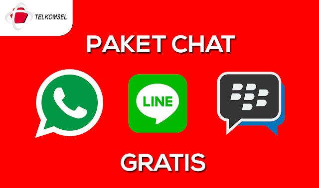 Cara Daftar Paket Chat Whatsapp, BBM dan Line Gratis