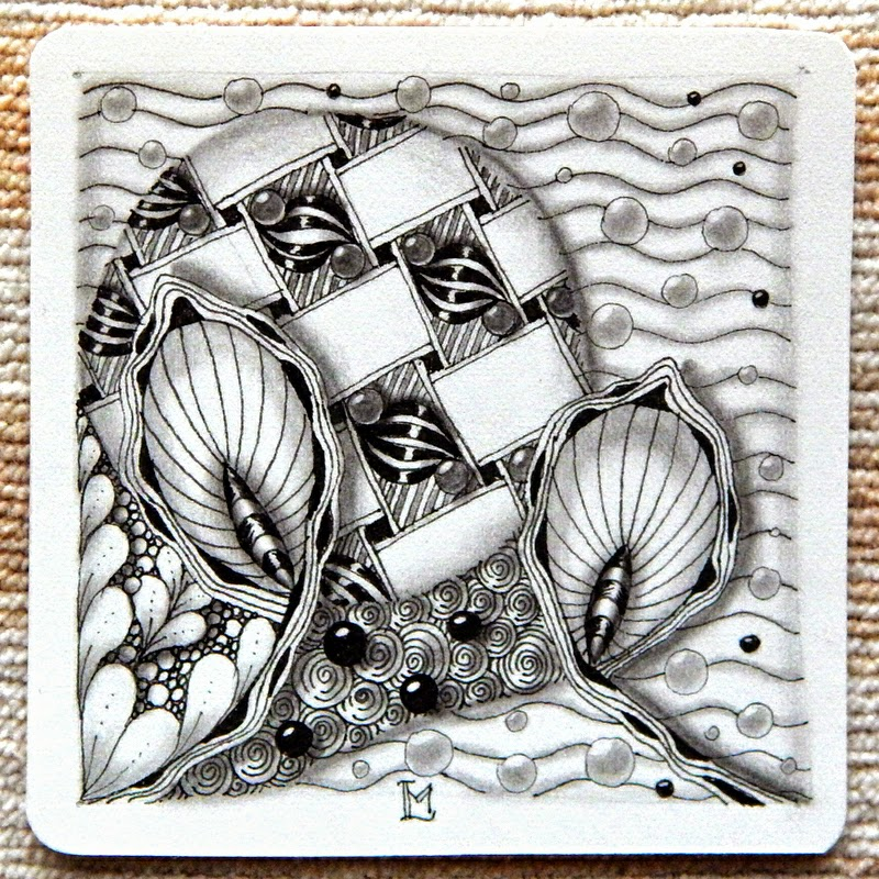 zentangle tile template - lily 39 s tangles new pattern narwal and weekly tiles