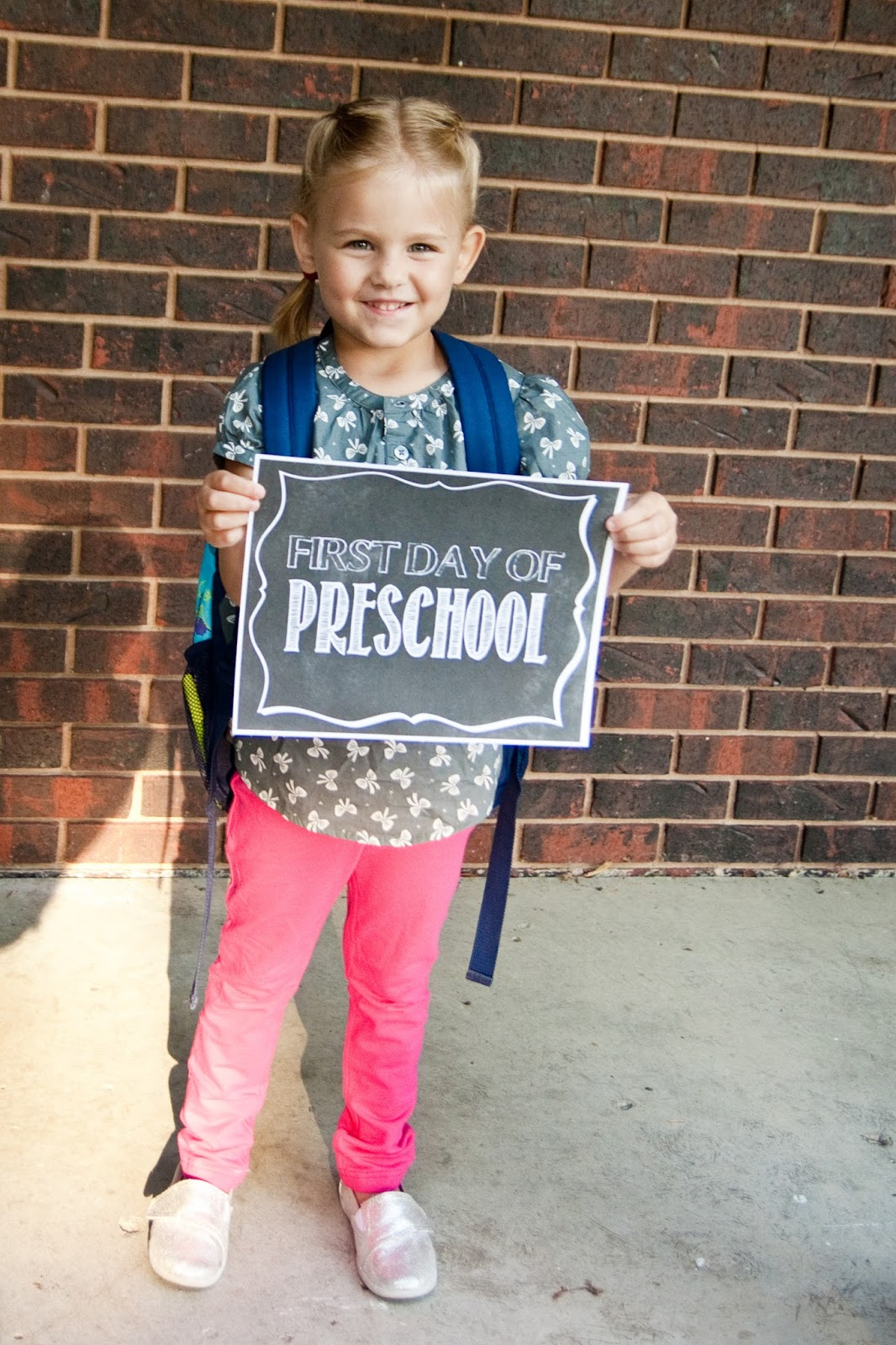 First Day Of College Picture: Emily's Photo Blog: Audrey's First Day Of Preschool