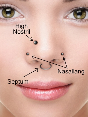 Type of Nose Piercing For Women