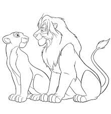Printable Lion Kings And Wife Coloring Sheet