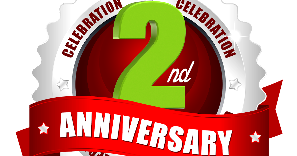 2nd anniversary vector : Nd anniversary vector images and logos with red ribbon