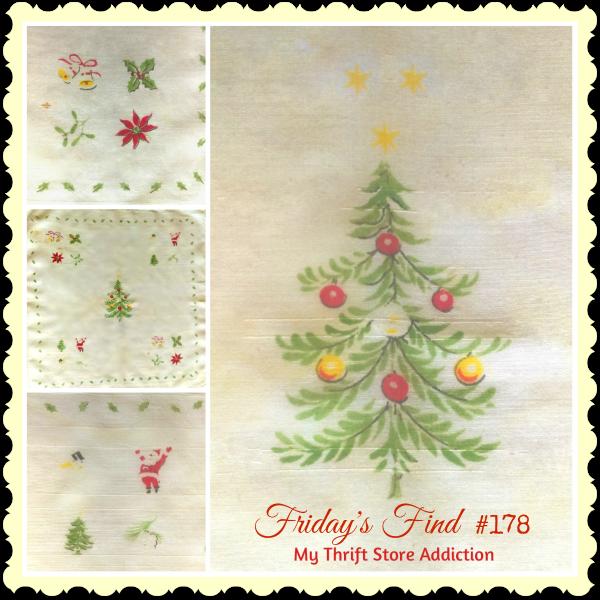 vintage Christmas hankie