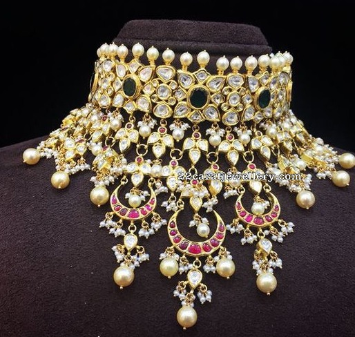 Polki Kundan Necklace by Amarsons