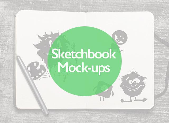 20+ Best Free Realistic Artist Sketchbook Mockup PSD