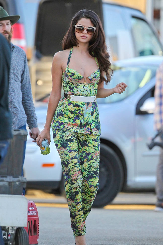 Selena Gomez spotted on the set of new video in LA