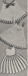 Crochet Clothes Potholders Pattern
