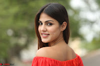 Rhea Chakraborty in Red Crop Top and Denim Shorts Spicy Pics ~  Exclusive 181.JPG