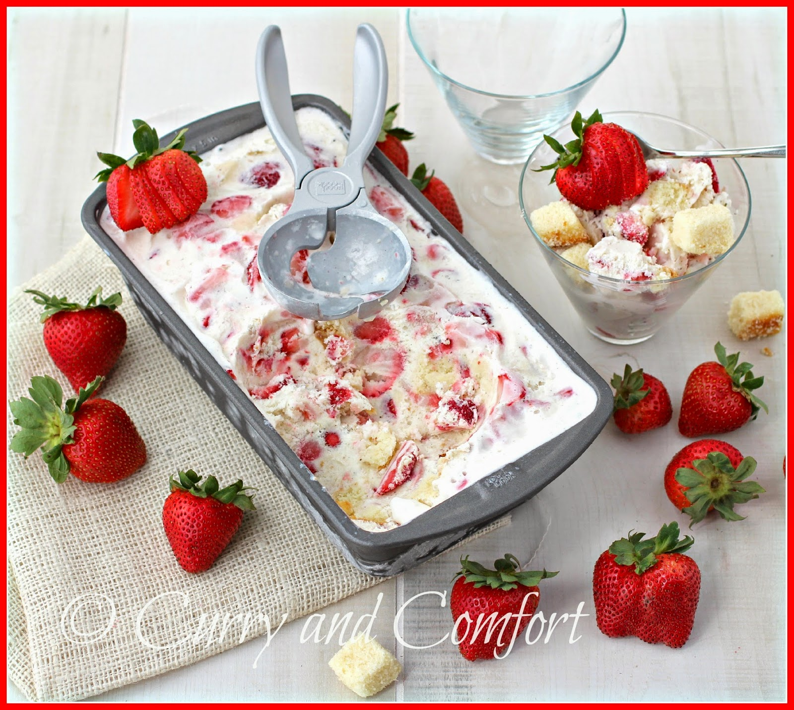 Kitchen Simmer: Strawberry Shortcake Ice Cream #StrawShortcake