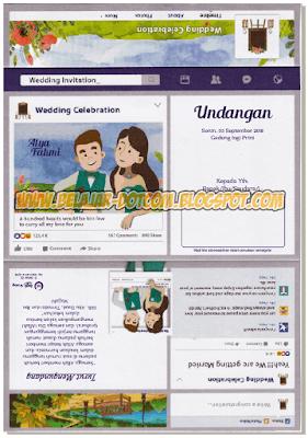 Download Undangan Model Facebook Maliq MQ 048 Free Template Format Cdr