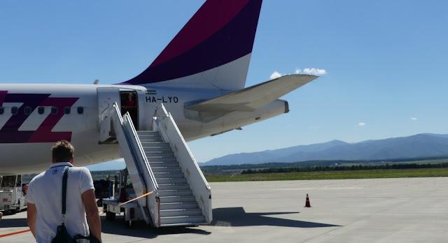 Boarden am Flughafen Sibiu - Wizzair