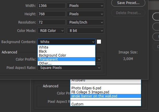 Legacy (Old Style) New Document Interface in Photoshop CC 2017