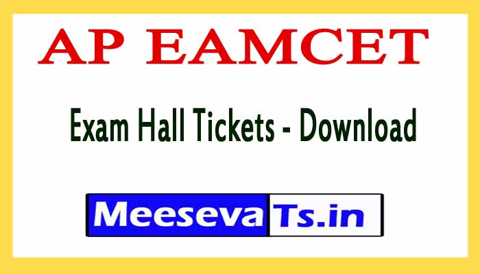 AP EAMCET Exam Hall Tickets - Download 2018