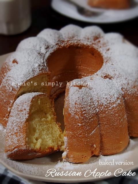 resep russian apple cake