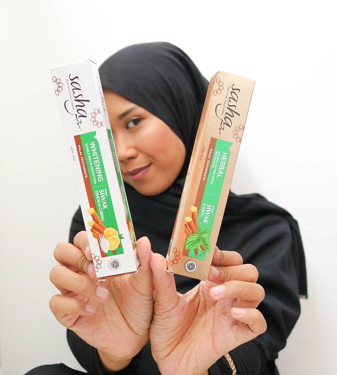 Waktunya Hijrah Bersama Sasha Inovasi Pasta Gigi Halal Dengan Serpihan Siwak Asli