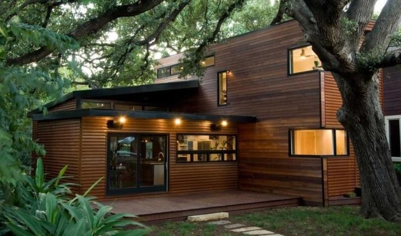 rumah kayu bertingkat