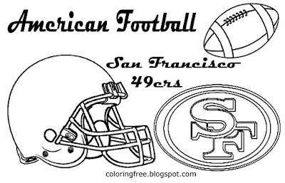 San Francisco 49ers printable American football coloring pictures for young men US West sport games