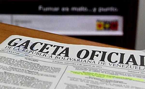 Léase Anuncio decreto presidencial en Gaceta oficial Nº 41.018