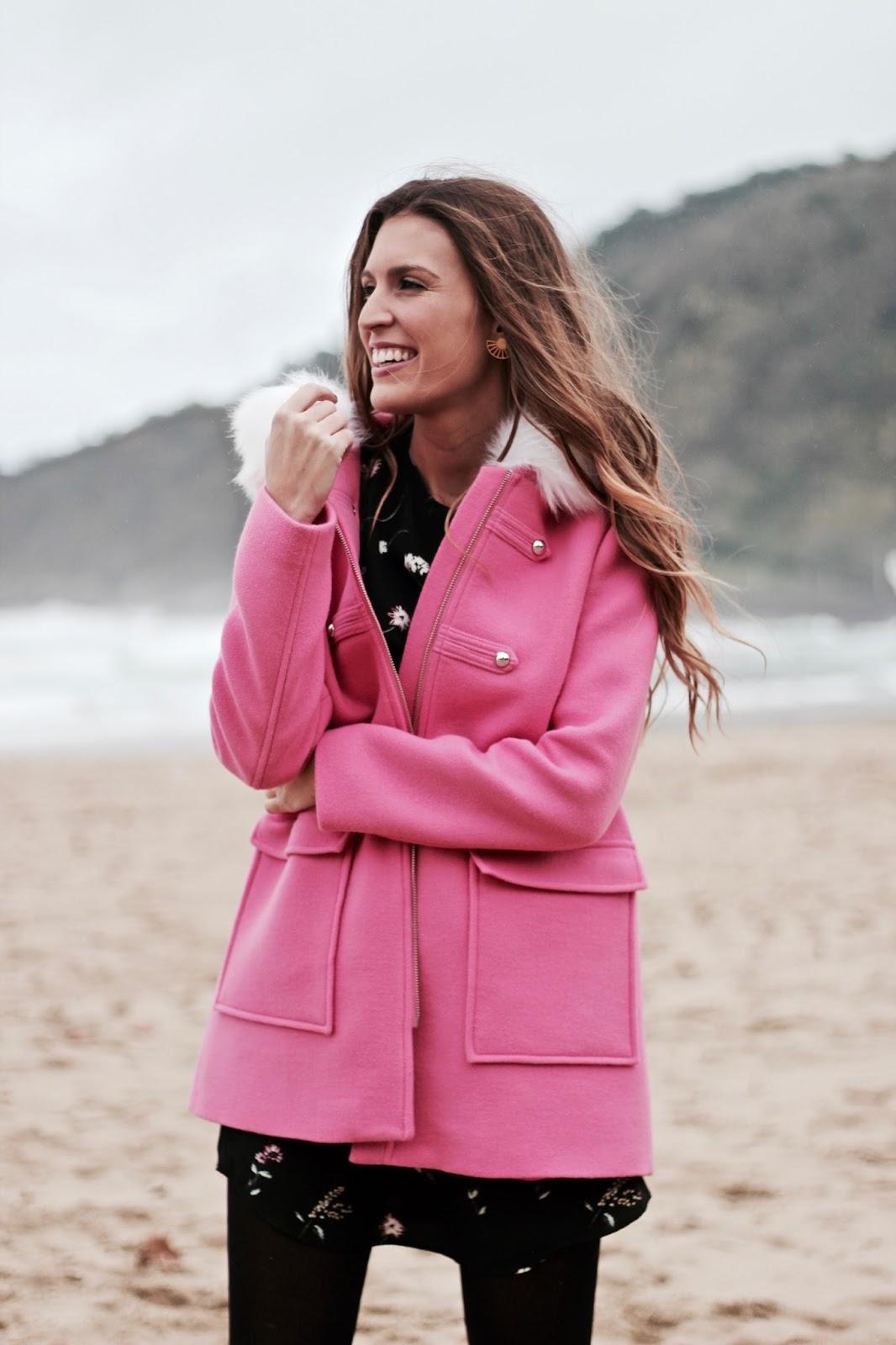 abrigo rosa chicle