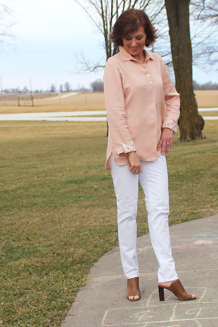 Oliver + S Gallery Tunic, with fold back cuffs and button placket