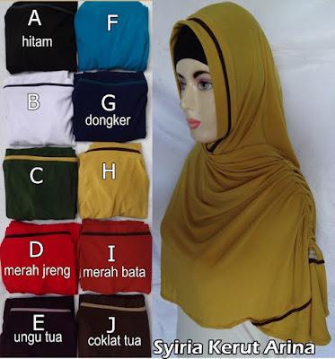 Model Jilbab Terbaru Syiria Kerut Arina