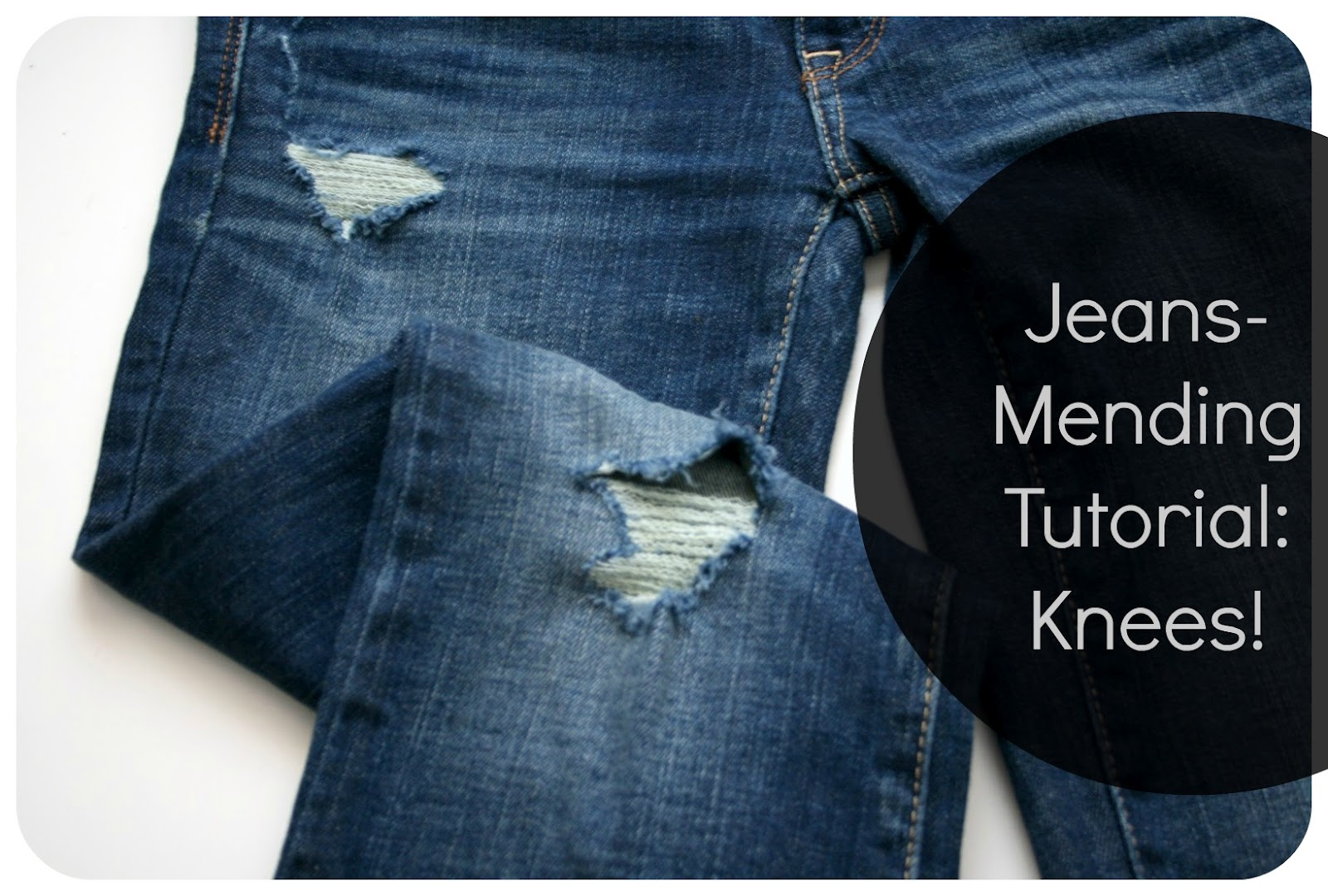 9ebd4fe8ae7 9.13.2012. So you've probably seen this tutorial of mine on how to mend  holes in jeans ...