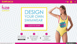 www.fuze.rumpunchresortwear.com, offering customization of swimwear up to 50,000 variations