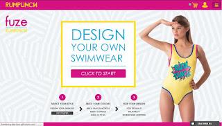 www.fuze.rumpunchresortwear.com, offering customization of swimwear up to 50,000 variations